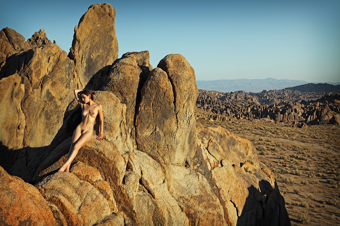 nude teen in the desert